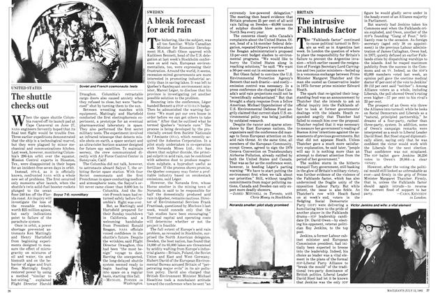 Article Preview: A bleak forecast for acid rain, July 1982 | Maclean's