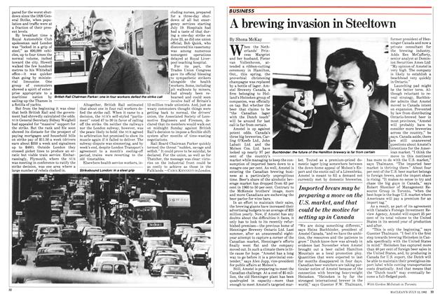 Article Preview: A brewing invasion in Steeltown, July 1982 | Maclean's