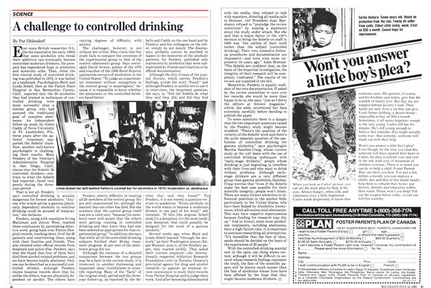 Article Preview: A challenge to controlled drinking, July 1982 | Maclean's