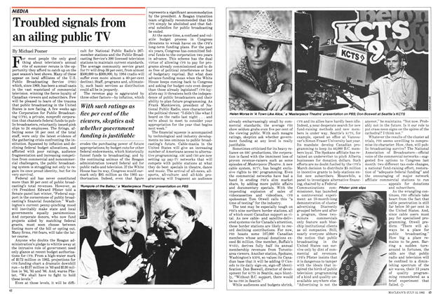 Article Preview: Troubled signals from an ailing public TV, July 1982 | Maclean's