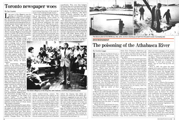 Article Preview: The poisoning of the Athabasca River, July 1982 | Maclean's