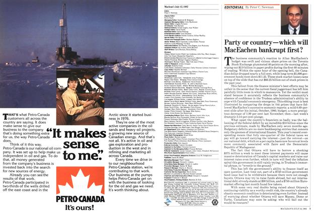 Article Preview: Party or country—which will MacEachen bankrupt first?, July 1982 | Maclean's