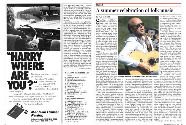 Article Preview: A summer celebration of folk music, July 1982 | Maclean's