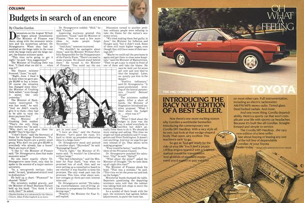 Article Preview: Budgets in search of an encore, July 1982 | Maclean's