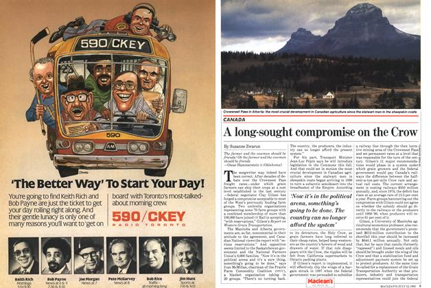 Article Preview: A long-sought compromise on the Crow, July 1982   Maclean's