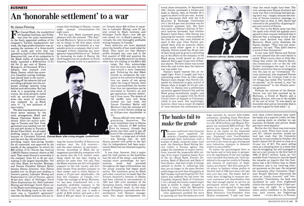 Article Preview: An 'honorable settlement' to a war, July 1982 | Maclean's
