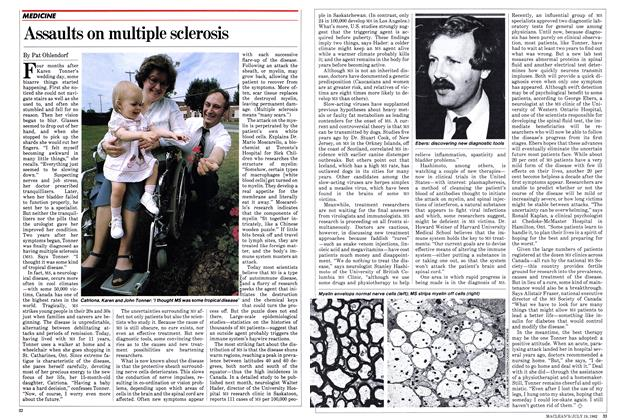 Article Preview: Assaults on multiple sclerosis, July 1982 | Maclean's