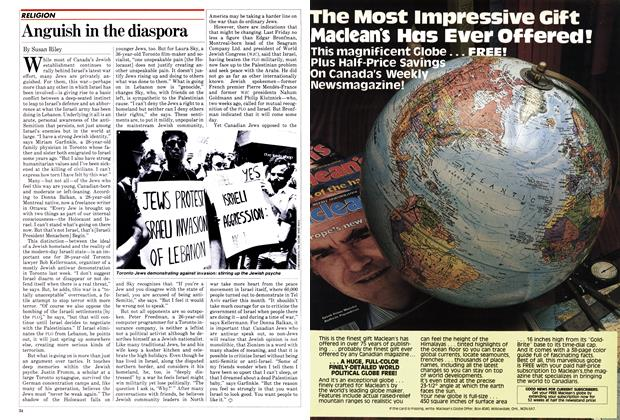 Article Preview: Anguish in the diaspora, July 1982 | Maclean's