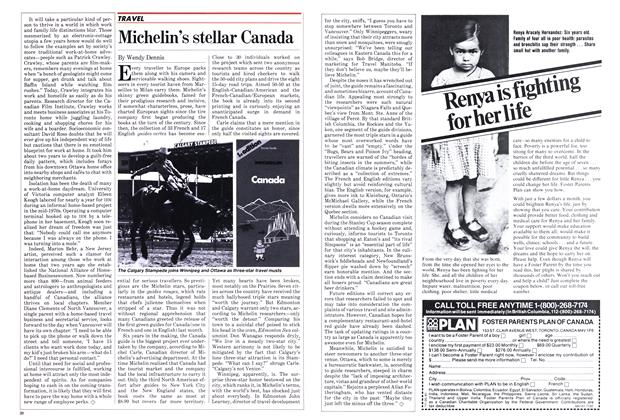 Article Preview: Michelin's stellar Canada, July 1982 | Maclean's