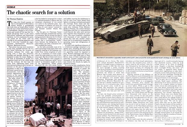 Article Preview: The chaotic search for a solution, July 1982 | Maclean's