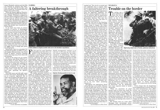 Article Preview: A faltering breakthrough, July 1982 | Maclean's
