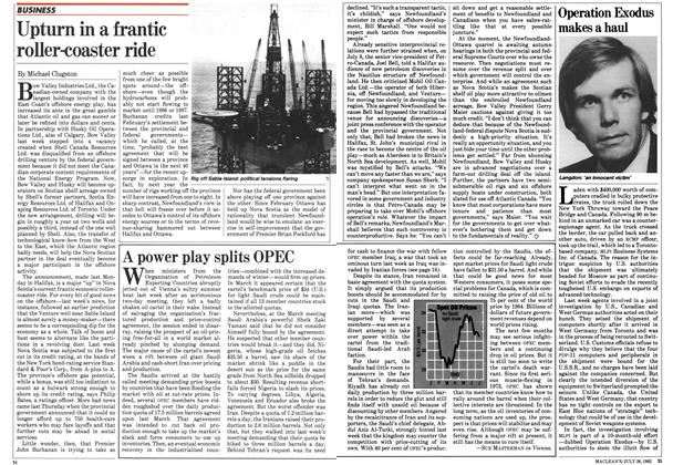 Article Preview: Upturn in a frantic roller-coaster ride, July 1982 | Maclean's