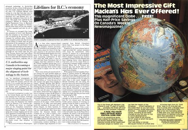 Article Preview: Lifelines for B.C.'s economy, July 1982 | Maclean's