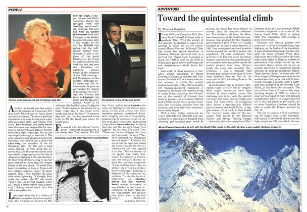 Article Preview: Toward the quintessential climb, July 1982 | Maclean's
