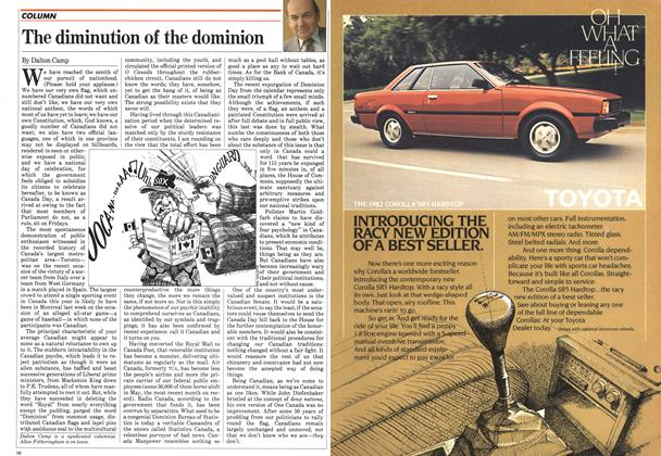 Article Preview: The diminution of the dominion, July 1982 | Maclean's