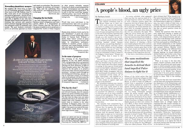 Article Preview: A people's blood, an ugly price, July 1982 | Maclean's