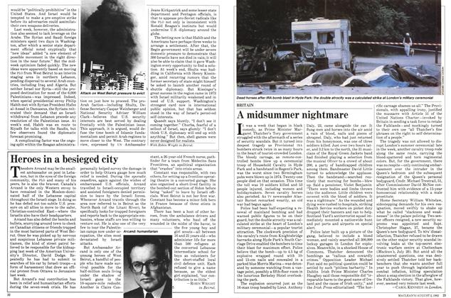Article Preview: A midsummer nightmare, August 1982   Maclean's