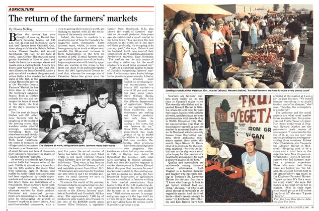 Article Preview: The return of the farmers' markets, August 1982 | Maclean's