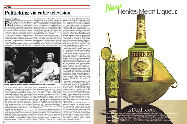Article Preview: Politicking via cable television, August 1982 | Maclean's
