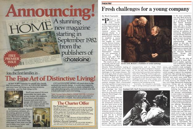 Article Preview: Fresh challenges for a young company, August 1982   Maclean's