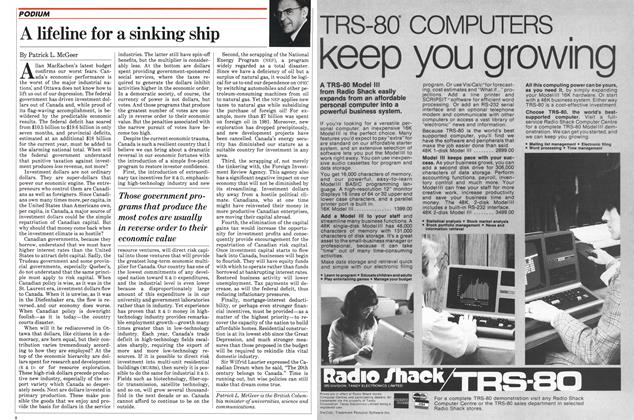 Article Preview: A lifeline for a sinking ship, August 1982 | Maclean's