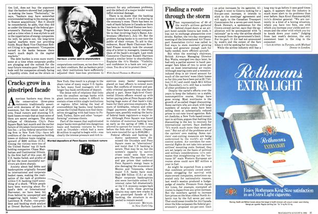 Article Preview: Finding a route through the storm, August 1982 | Maclean's