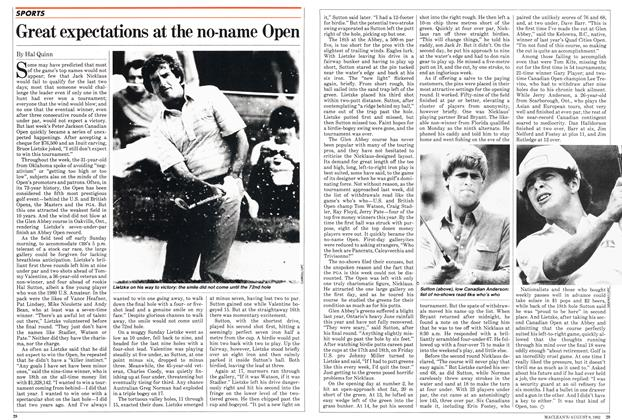 Article Preview: Great expectations at the no-name Open, August 1982 | Maclean's