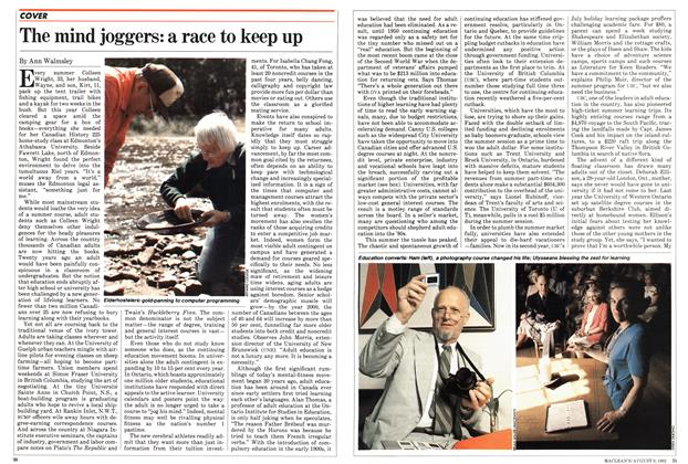 Article Preview: The mind joggers: a race to keep up, August 1982 | Maclean's
