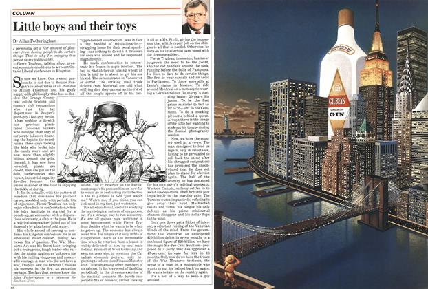 Article Preview: Little boys and their toys, August 1982 | Maclean's