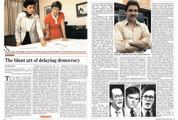 Article Preview: The blunt art of delaying democracy, August 1982 | Maclean's