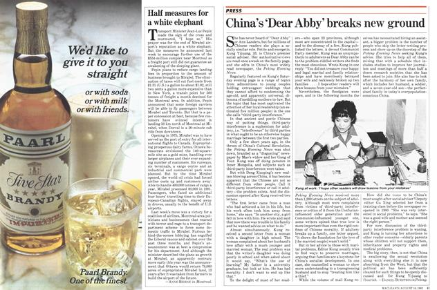 Article Preview: China's 'Dear Abby' breaks new ground, August 1982 | Maclean's