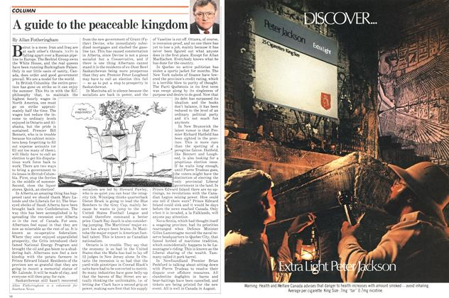 Article Preview: A guide to the peaceable kingdom, August 1982 | Maclean's