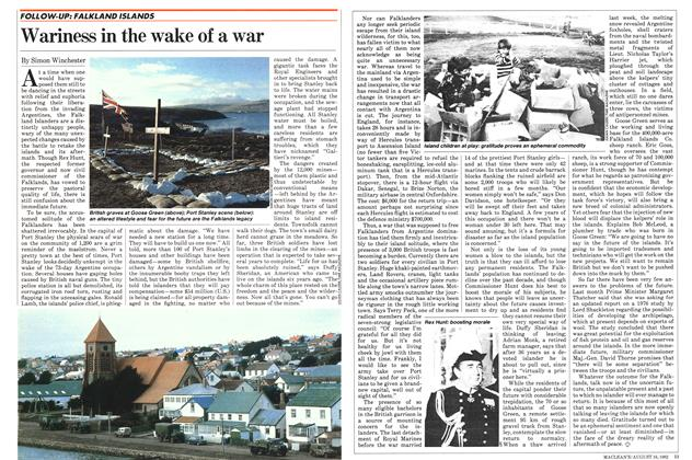Article Preview: Wariness in the wake of a war, August 1982 | Maclean's