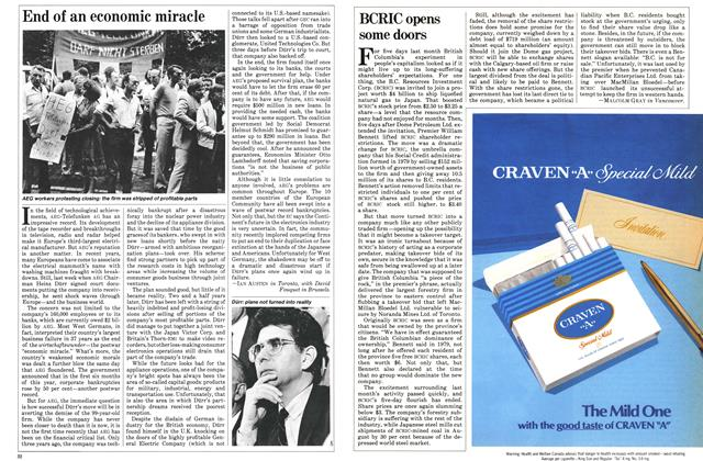 Article Preview: BCRIC opens some doors, August 1982 | Maclean's