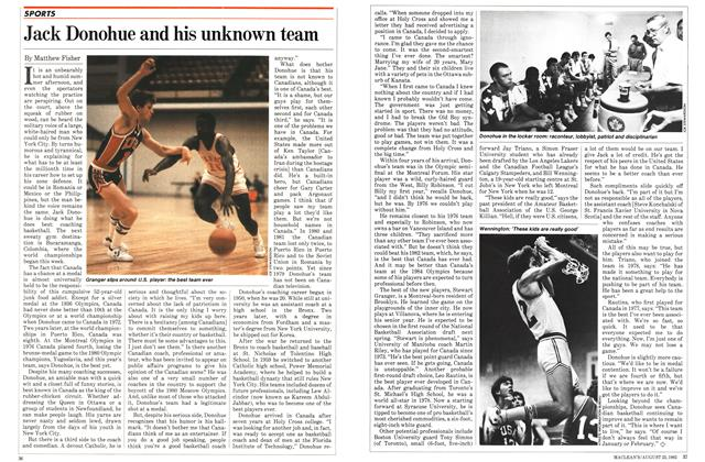 Article Preview: Jack Donohue and his unknown team, August 1982 | Maclean's
