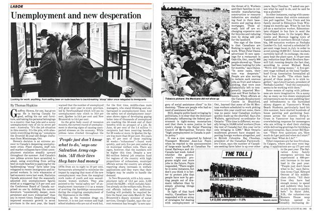 Article Preview: Unemployment and new desperation, August 1982 | Maclean's
