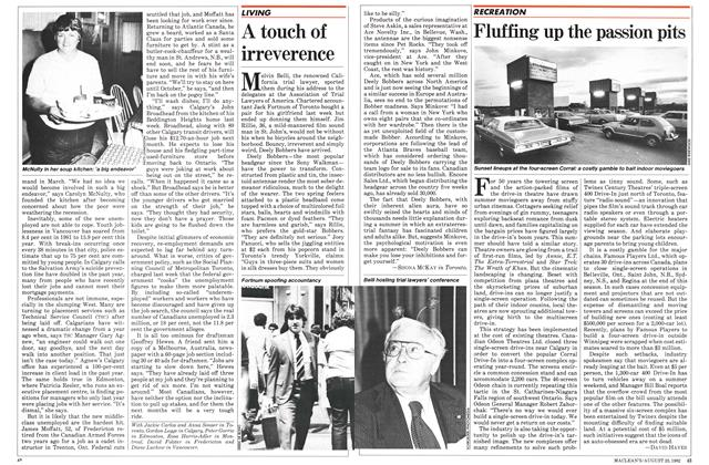 Article Preview: Fluffing up the passion pits, August 1982 | Maclean's