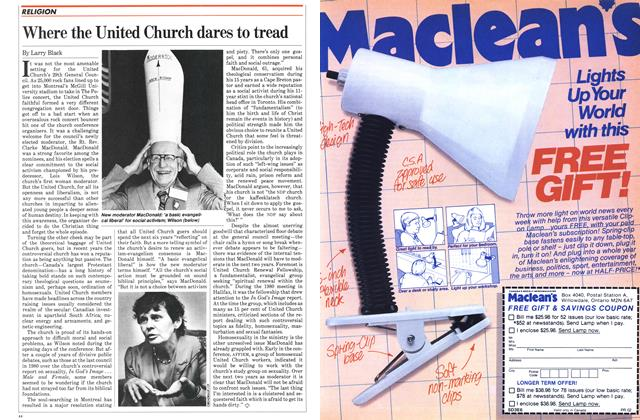Article Preview: Where the United Church dares to tread, August 1982   Maclean's