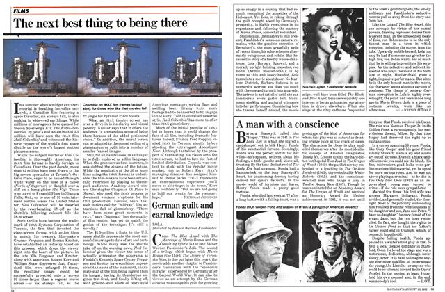 Article Preview: The next best thing to being there, August 1982 | Maclean's