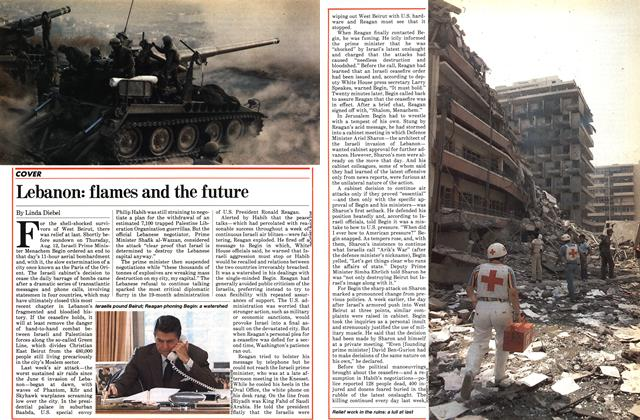 Article Preview: Lebanon: flames and the future, August 1982 | Maclean's