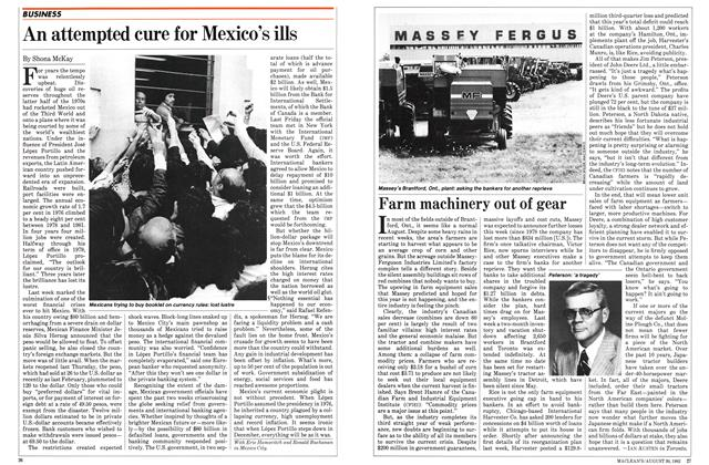 Article Preview: Farm machinery out of gear, August 1982 | Maclean's