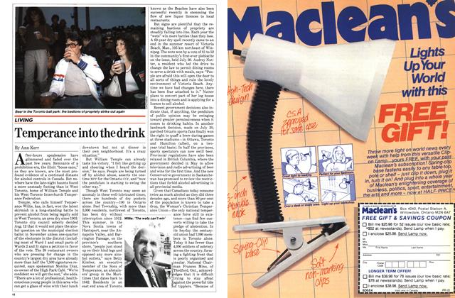 Article Preview: Temperance into the drink, August 1982 | Maclean's