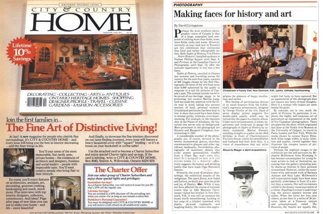 Article Preview: Making faces for history and art, August 1982   Maclean's