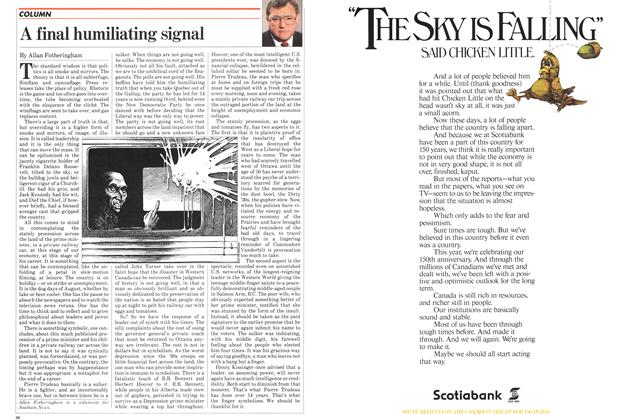 Article Preview: A final humiliating signal, August 1982 | Maclean's
