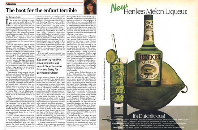 Article Preview: The boot for the enfant terrible, August 1982 | Maclean's
