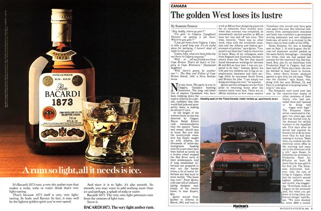 Article Preview: The golden West loses its lustre, August 1982 | Maclean's