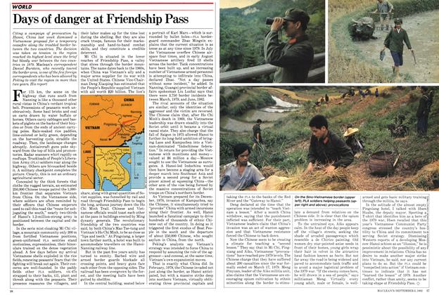 Article Preview: Days of danger at Friendship Pass, September 1982 | Maclean's
