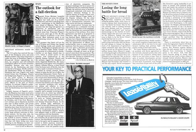 Article Preview: The outlook for a fall election, September 1982 | Maclean's
