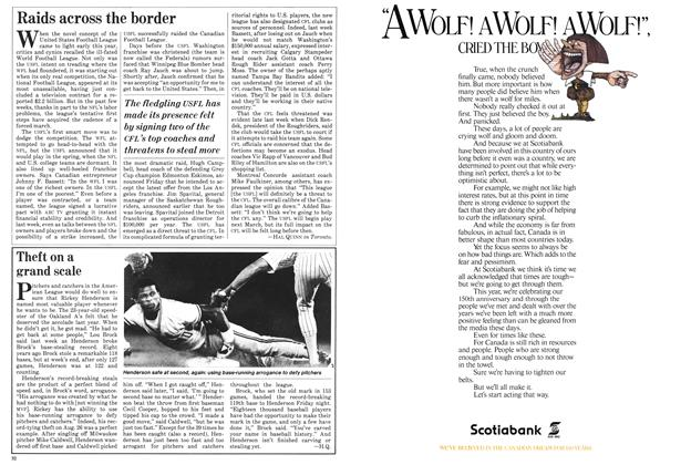 Article Preview: Raids across the border, September 1982 | Maclean's