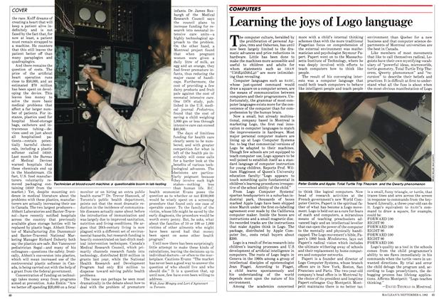 Article Preview: Learning the joys of Logo language, September 1982 | Maclean's